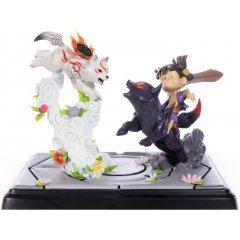 Okamiden - Chibiterasu vs. Dark Chibiterasu & Possessed Kuni Painted Statue [Standard Edition] First4Figures
