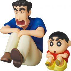Ultra Detail Figure Crayon Shin-chan Series 3: Ketsudakearuki Hiroshi & Shinnosuke Medicom