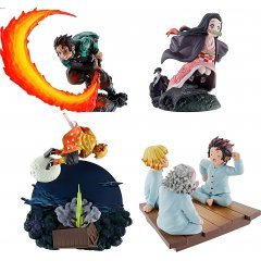 Demon Slayer Kimetsu no Yaiba Scene's Box Vol. 1 Petitrama Series (Set of 4 Pieces) (Re-run) Mega House