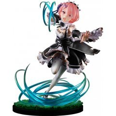 KD Colle Re:Zero - Starting Life in Another World 1/7 Scale Pre-Painted Figure: Ram Battle with Roswaal Ver. Kadokawa Shoten