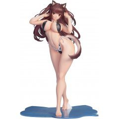 Kemomimi Gakuen Illustrated by Saburo 1/7 Scale Pre-Painted Figure: Shatan-chan B'full Fots Japan