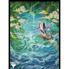 Magic: The Gathering Players Card Sleeve - Strixhaven: School Of Mages Japanese Painting Mystic Archive Growth Spiral (MTGS-169) Ensky