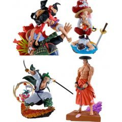 One Piece Logbox Re Birth Wano Country Ver. Vol. 3 Petitrama Series (Set of 4 Pieces) Mega House