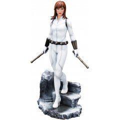 ARTFX Premier Marvel Universe Avengers 1/10 Scale Pre-Painted Figure: Black Widow White Costume Edition Kotobukiya