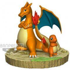 Pokemon Charizard & Charmander Pre-Painted Figure Bandai Spirits