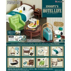 Peanuts Snoopy - Snoopy's Hotel Life (Set of 8 Pieces) Re-ment