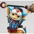 Game Characters Collection - Monster Hunter Portable 3rd Pre-Painted DX PVC Figure: Otomo Airou (Ashira Neko Series)