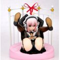 Nitro Super Sonic 1/6 Scale Pre-Painted PVC Figure: Super Soniko Gothic Maid Ver. With Bed Base