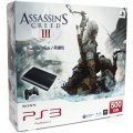 PlayStation3 New Slim Console - Assassin's Creed III Bundle Pack (500GB Charcoal Black Model) - 220V