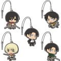 Attack on Titan Chimi Attack Earphone Jack Mascot (Set of 6 pieces)