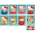 Hello Kitty Plush: Potepote Otedama Mascot Sanrio Japanese Pattern Assorted Set