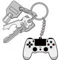 PlayStation Family Mark Rubber Keychain: Dualshock 4