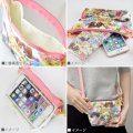 Sailor Moon Botanical Pattern Minimini Pouch: Sailor Chibi Moon & Sailor Saturn & Sailor Pluto