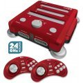 SNES/ Genesis/ NES Hyperkin RetroN 3 Gaming Console 2.4 GHz Edition Game Bundle (Laser Red)