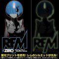 Re:Zero - Starting Life In Another World - Rem Glow In The Dark T-shirt Black (S Size) [Re-run]