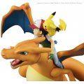 G.E.M. Series Pocket Monsters Pre-Painted PVC Figure: Ash Ketchum & Pikachu & Charizard (Re-run)