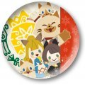 Monster Hunter XX Can Badge Collection: Kati & Milsee with Friends