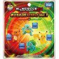 Pokemon Monster Collection EX 20th Anniversary: Tabidachi no 3biki + Pikachu Vol. 1 Kanto Ver.
