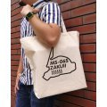 Mobile Suit Gundam Chia Zaku Silhouette Large Tote Bag Natural