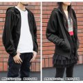 Itemya Wizard Zipper Hoodie Plain Stitch Ver. Black (L Size)