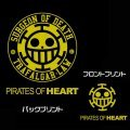 One Piece Pirates Of Heart Hooded Windbreaker Black x White (XL Size)
