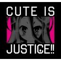 No Game No Life - Cute Is Justice! T-shirt Black (S Size)