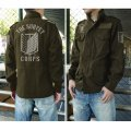 Attack On Titan - The Survey Corps Emblem M-65 Jacket Moss (L Size)