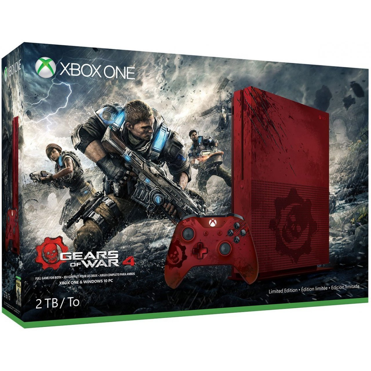 Xbox One S Gears Of War 4 Limited Edition Bundle 2tb Console