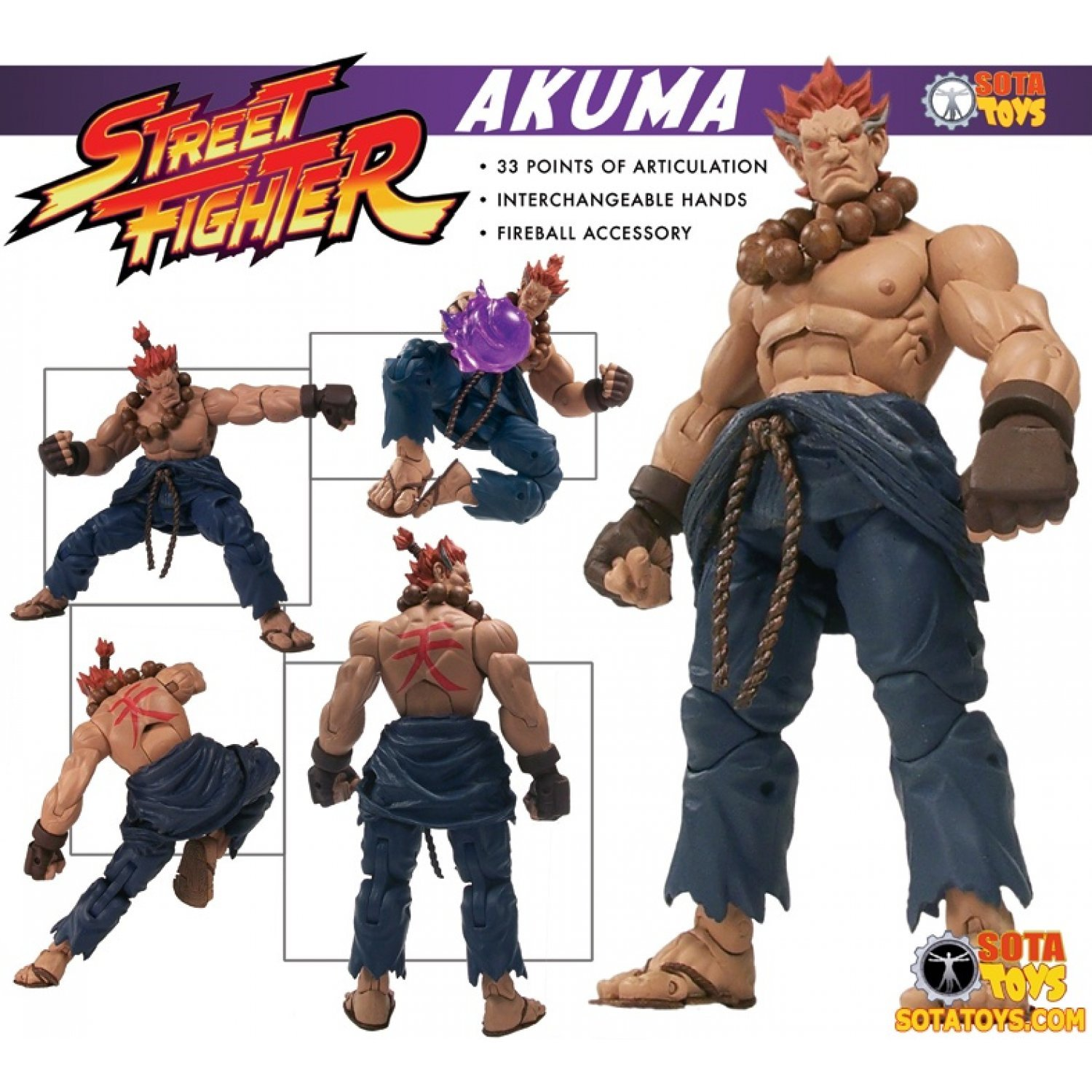 Street Fighter Preview Action Figure Akuma