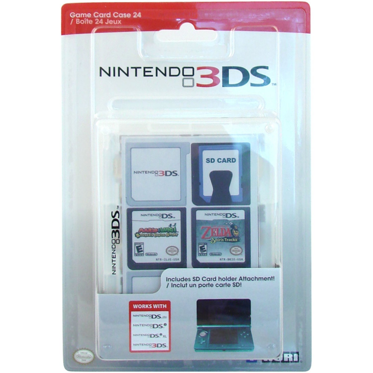 Nintendo 3ds Game Card Case 24 Clear