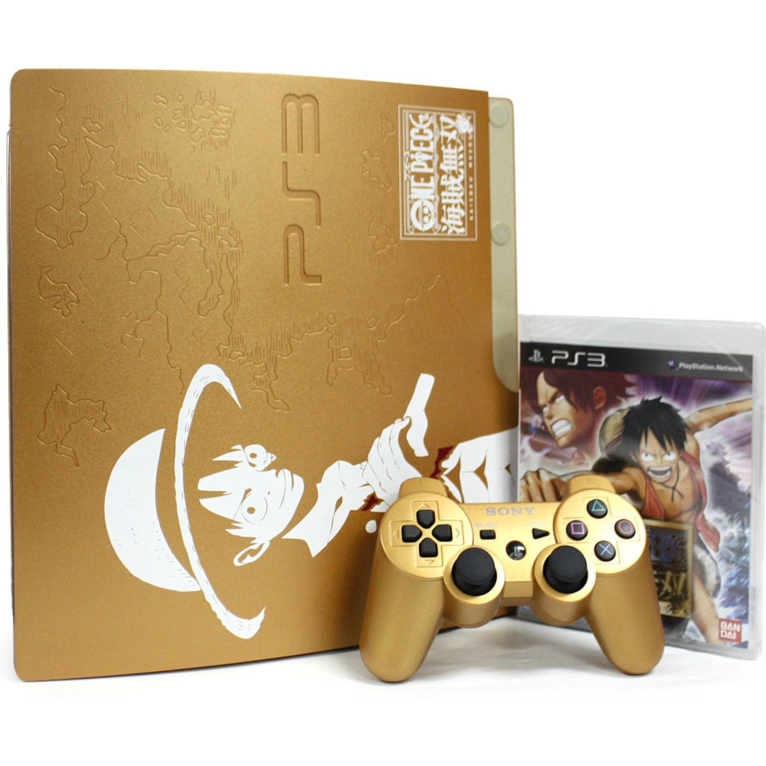 Playstation3 Slim Console One Piece Kaizoku Musou Gold Edition Hdd 320gb Model 110v