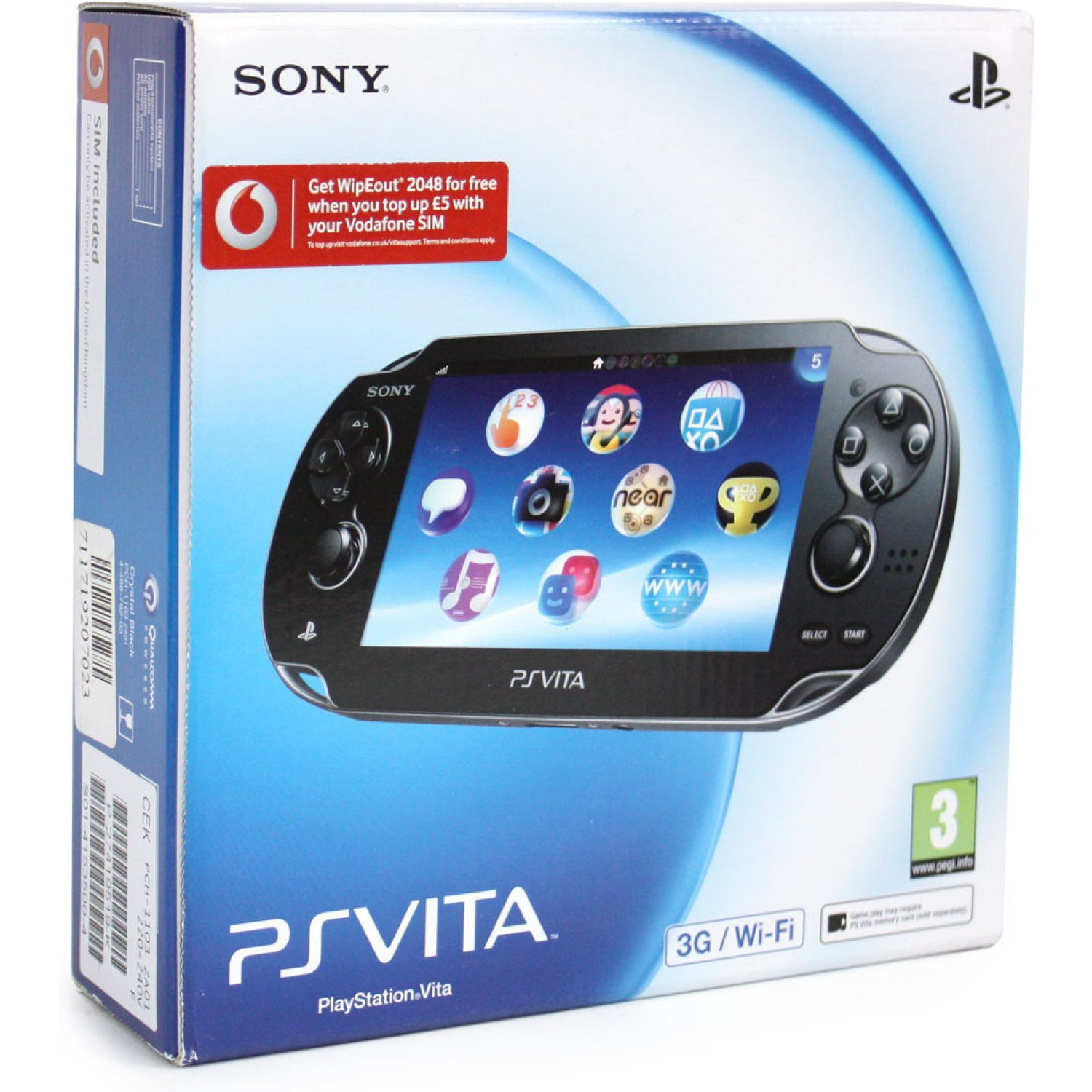 Ps Vita Playstation Vita 3g Wi Fi Model Crystal Black