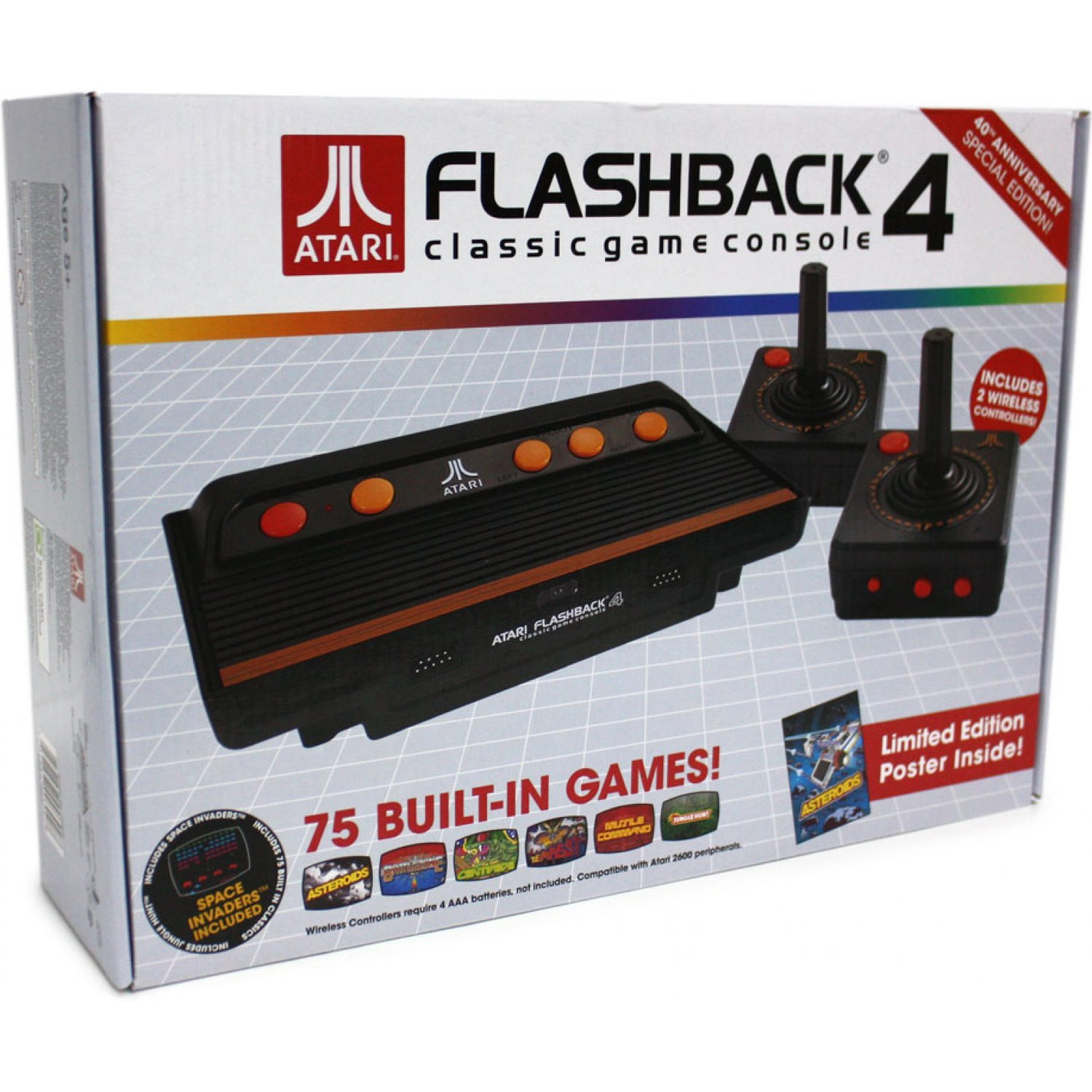 at games atari flashback 4 classic game console. Black Bedroom Furniture Sets. Home Design Ideas