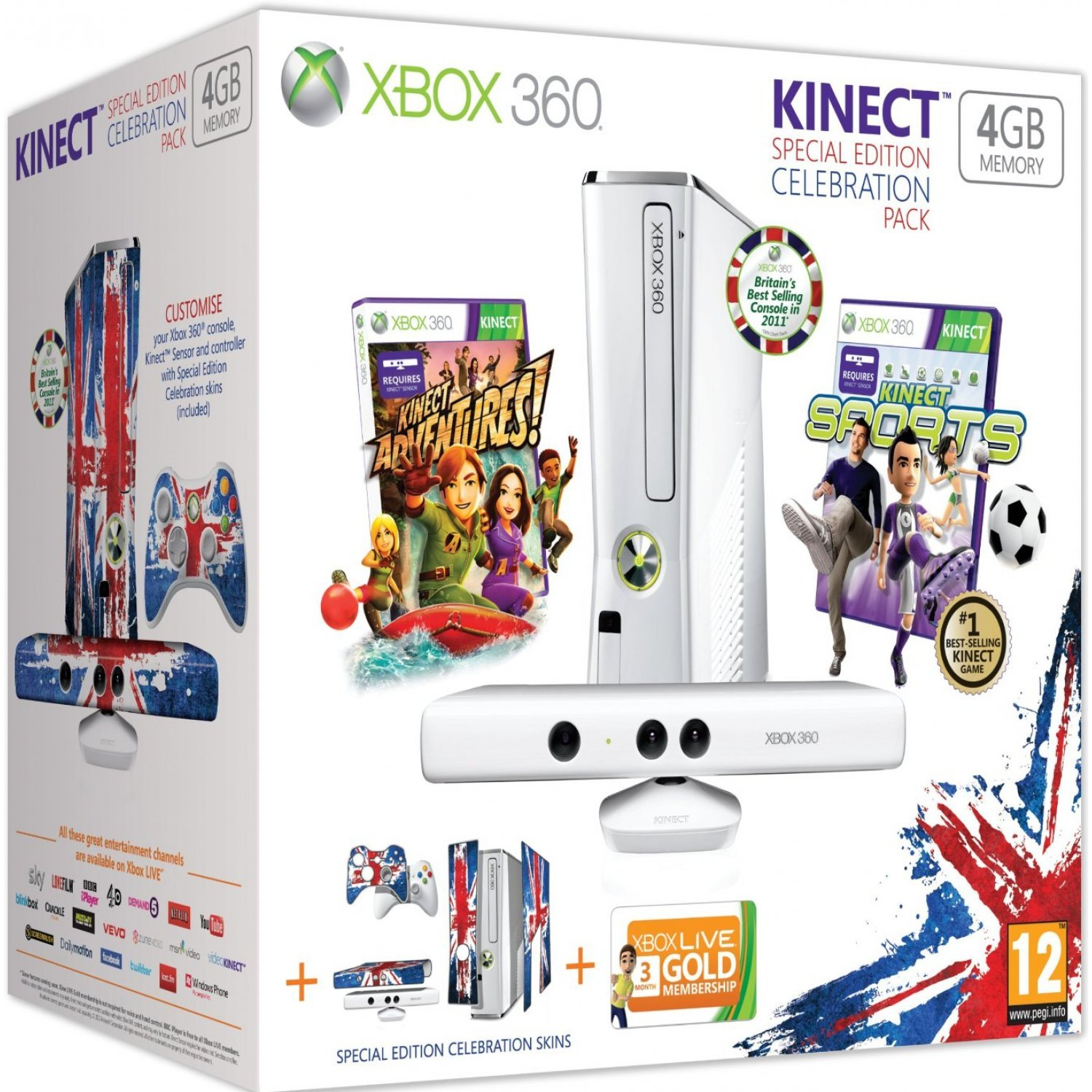 Xbox 360 4GB Console - Celebration Pack (incl  Kinect