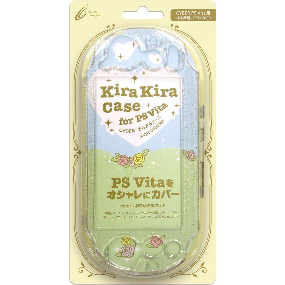 Kirakira Case For Playstation Vita Slim Ohimesama Clear Cystal Ps