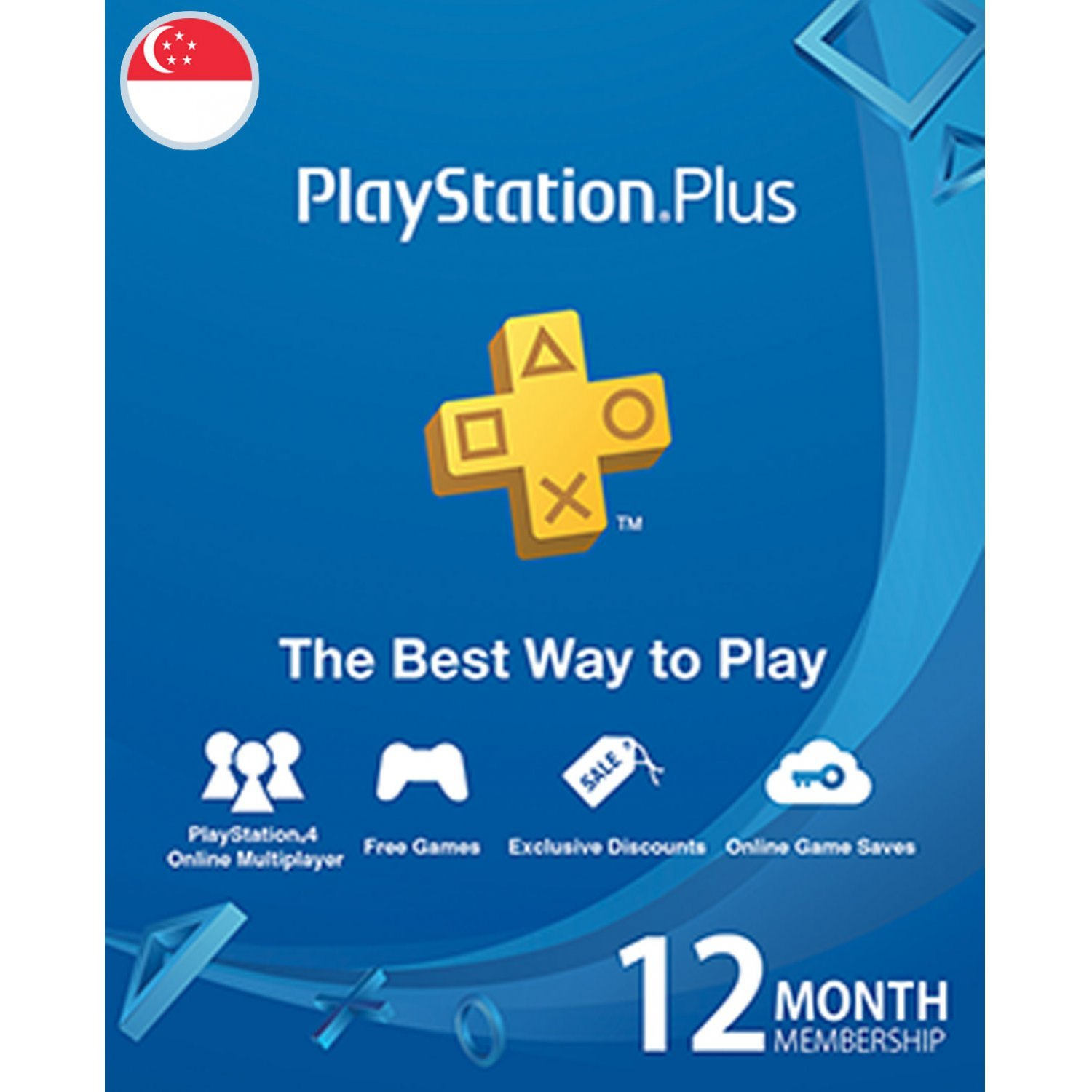PSN Card 12 Month | Playstation Plus Singapore Account Only digital