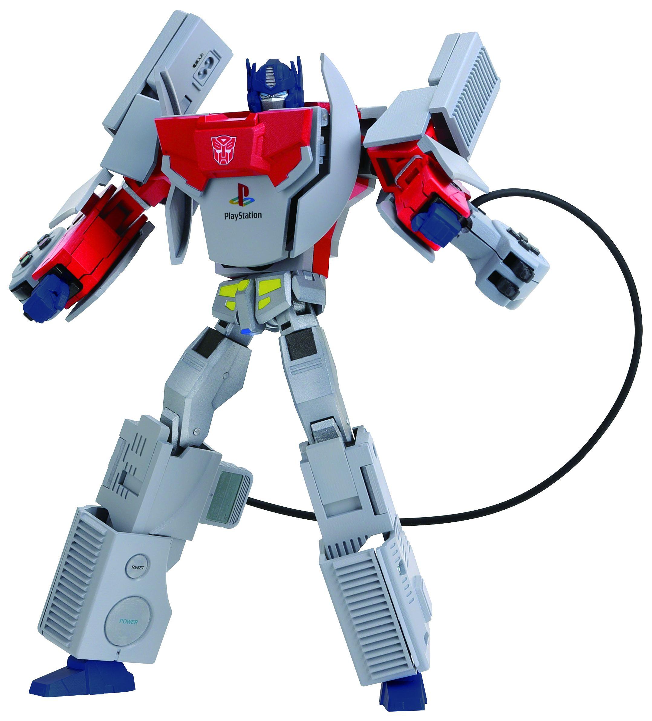 transformers: optimus prime featuring original playstation