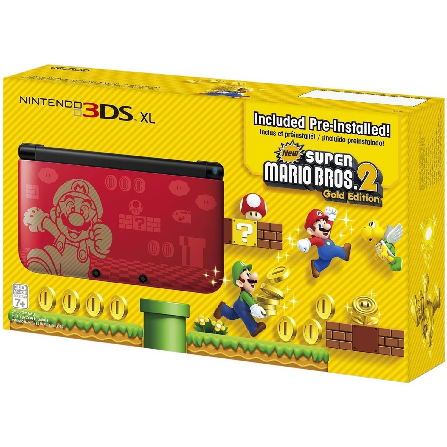 nintendo 3ds xl new super mario bros 2 gold edition. Black Bedroom Furniture Sets. Home Design Ideas