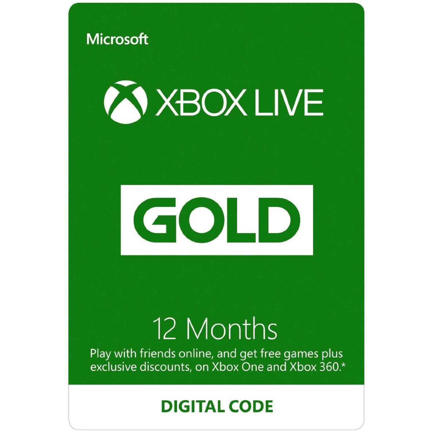 Xbox Live Gold 12 Month Membership GLOBAL