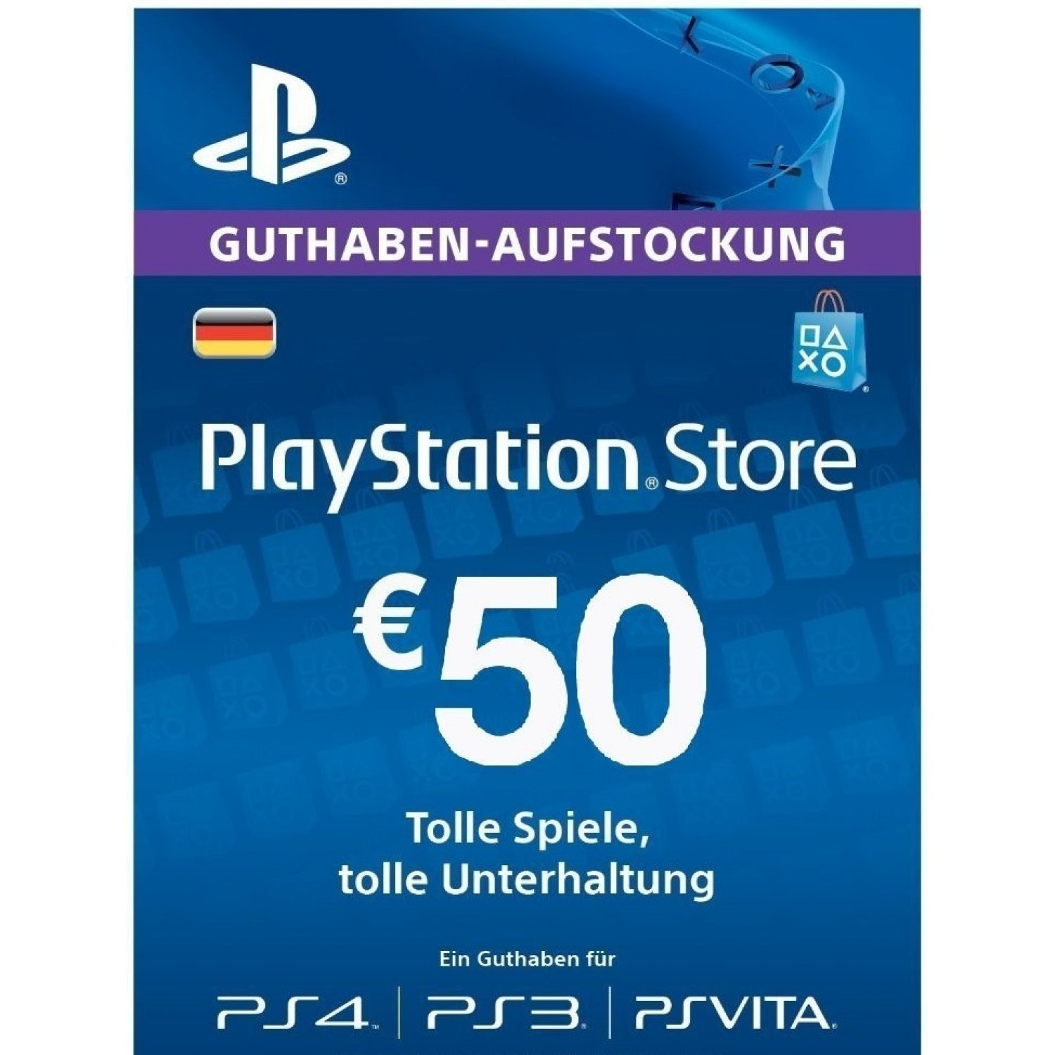 psn card 50 eur playstation network germany digital. Black Bedroom Furniture Sets. Home Design Ideas