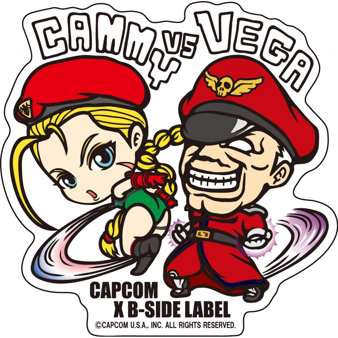 Capcom x b side label sticker l street fighter cammy vega