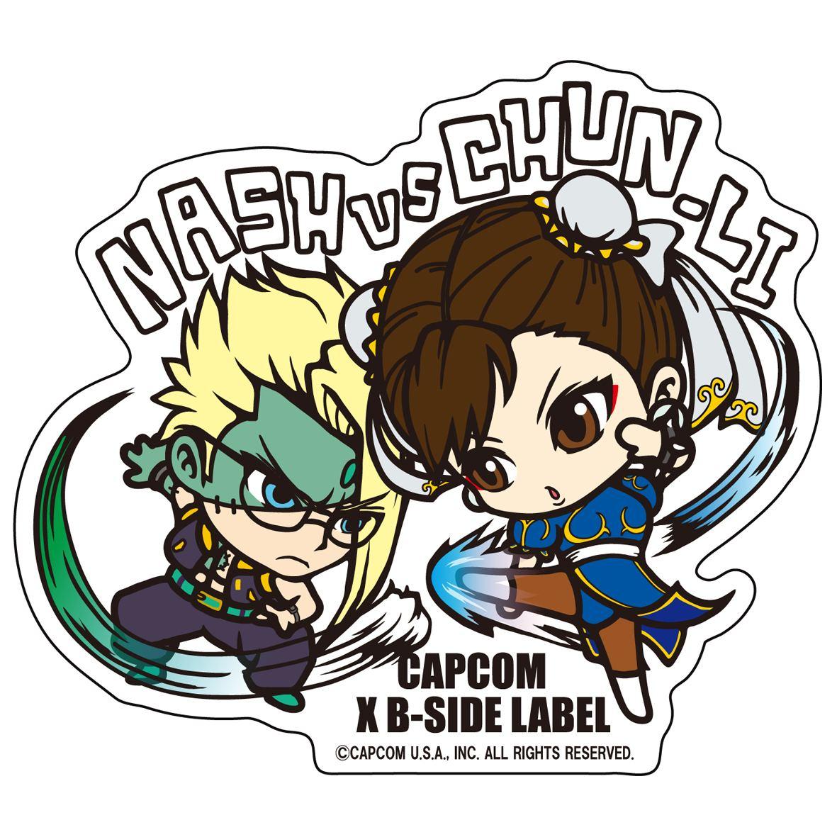 Capcom x b side label sticker l street fighter nash chun li