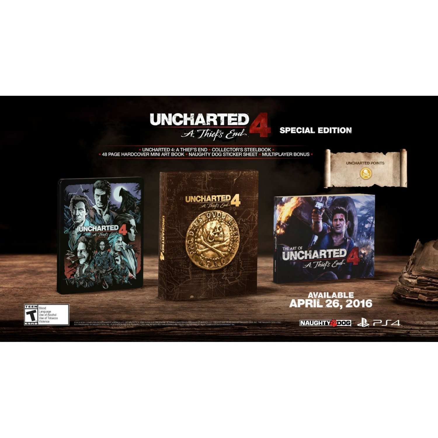 Uncharted 4 A Thiefs End Special Edition Ps4uncharted Thief Reg 3 All