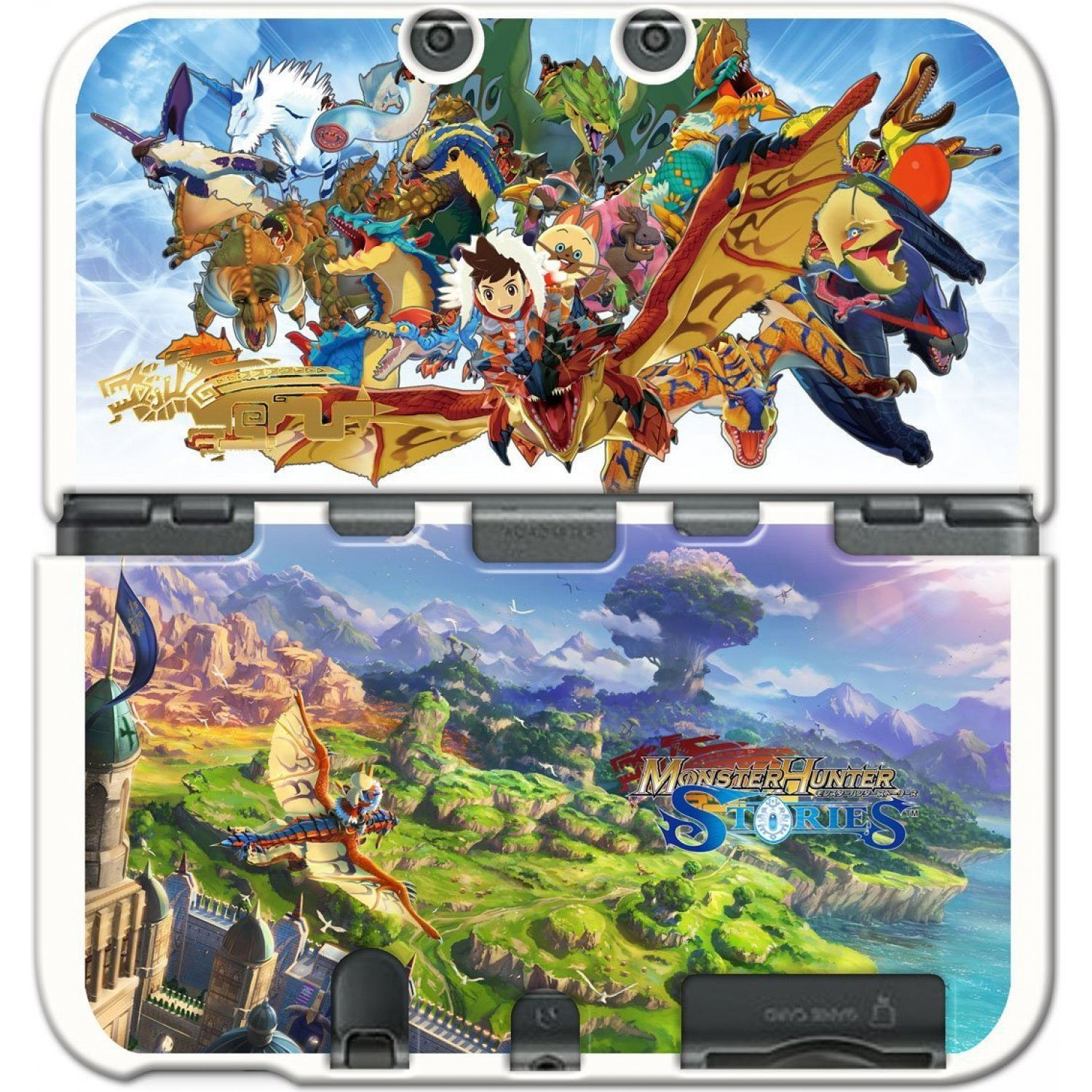 Toggle Switch Cover >> Monster Hunter Stories Cover for New 3DS LL