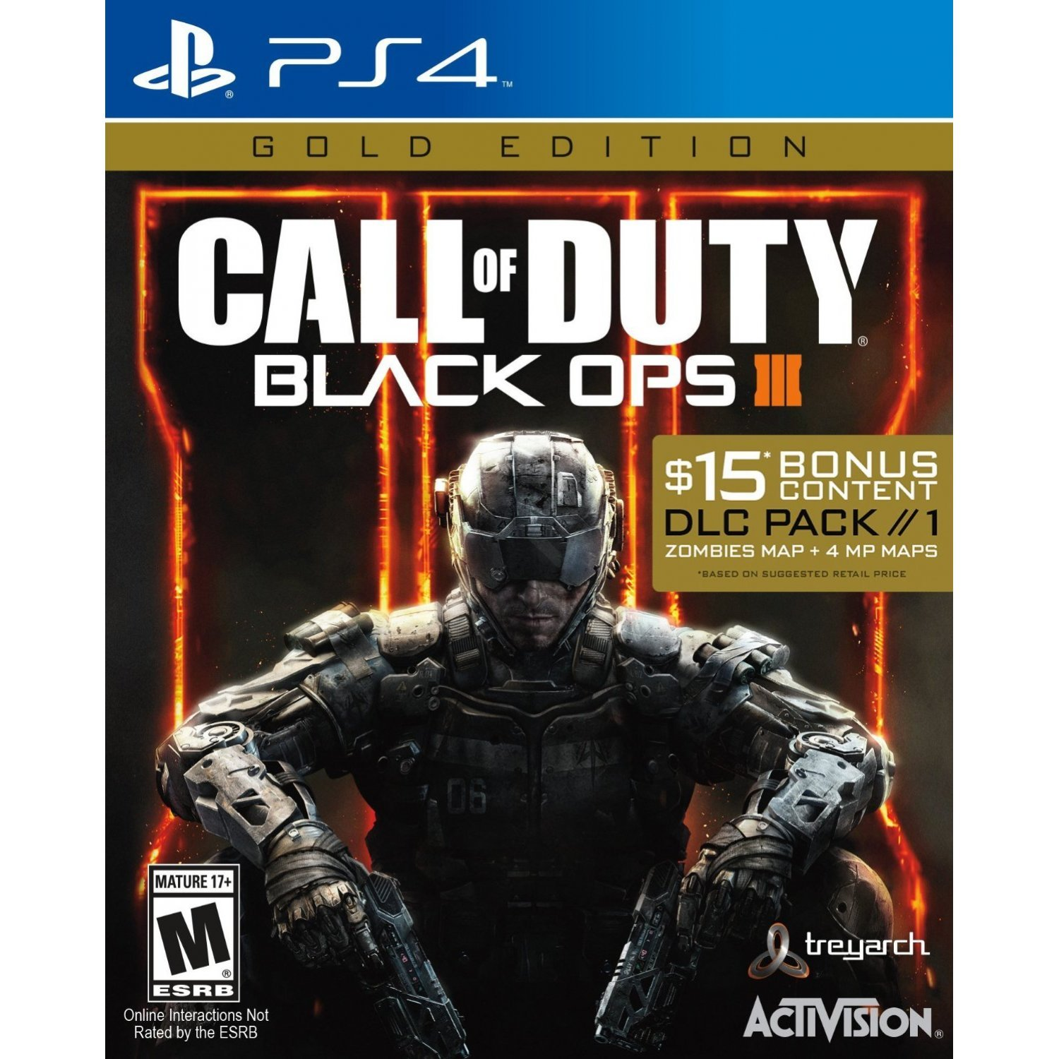 Call Of Duty Black Ops Iii Gold Edition Sony Playstation 4 Ps4 Cod Limited Non Dvd