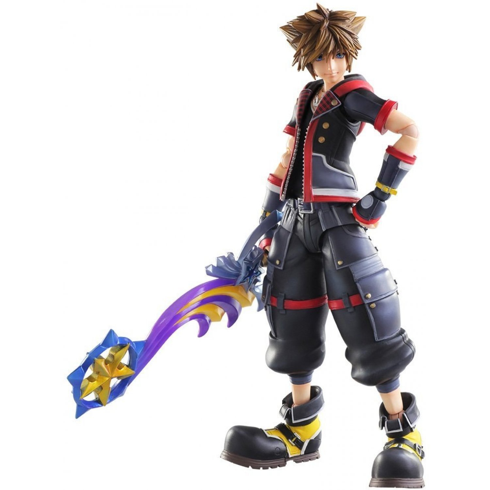 Sora Kingdom Hearts Kingdom Hearts: Kingdom Hearts III Sora Play Arts Kai Action Figure