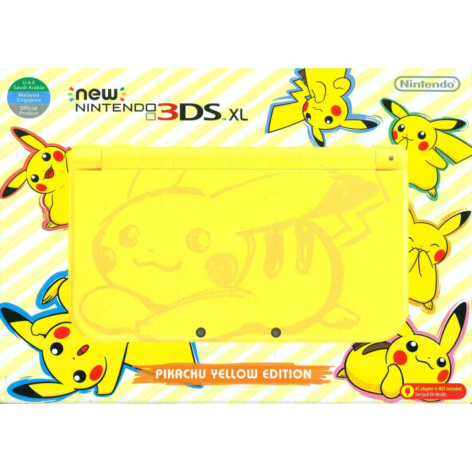 New nintendo 3ds xl pikachu edition yellow for 3ds xl pikachu achat