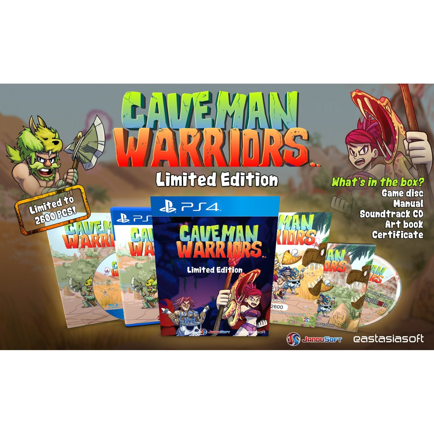 Warriors Book Series Games: Caveman Warriors [Limited Edition] Play-Asia.com Exclusive