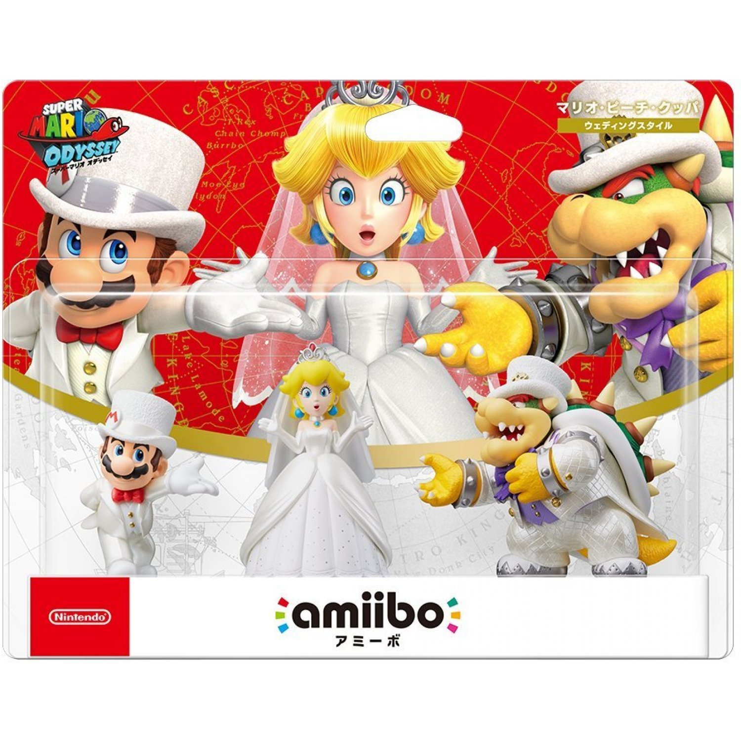 Amiibo Super Mario Odyssey Series Figure Triple Pack Wedding Outfit