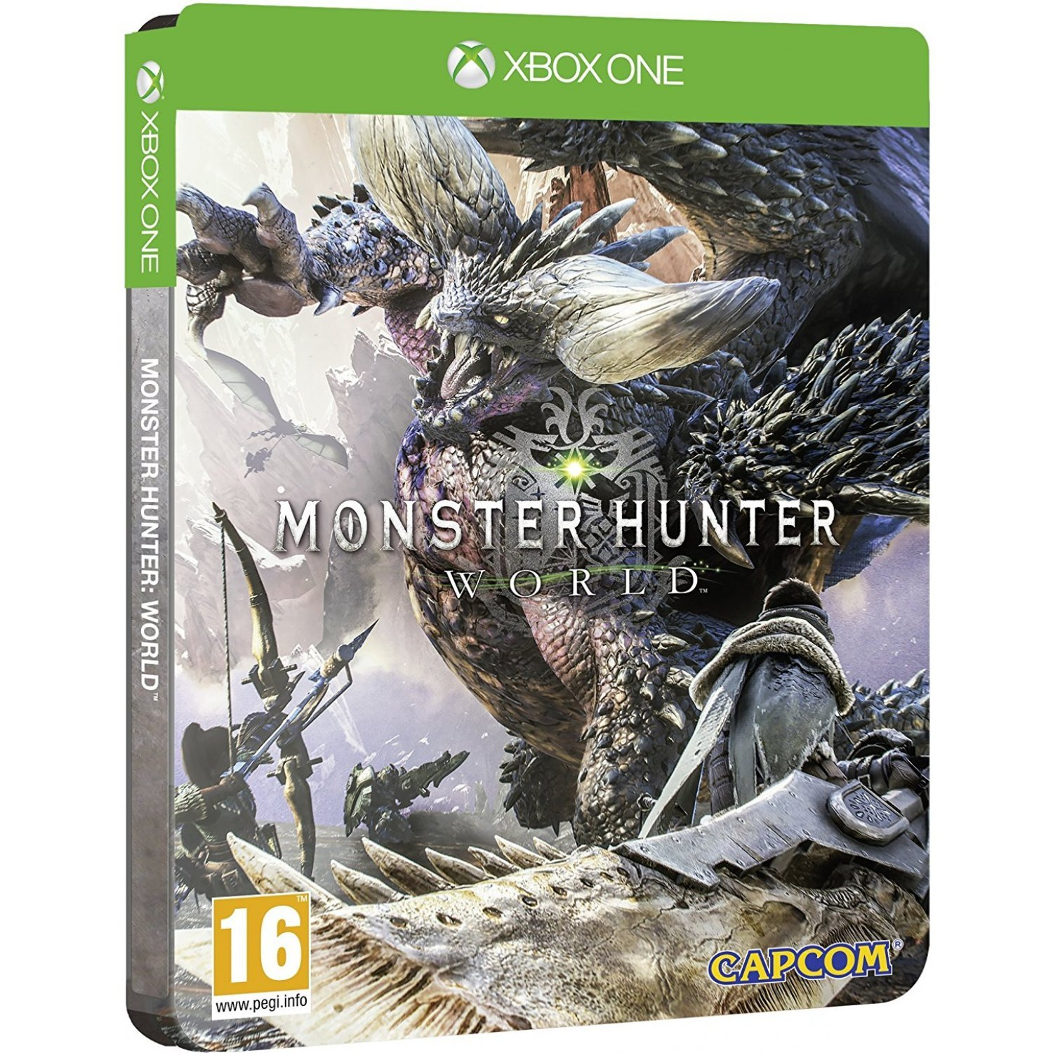 Book Cover Illustration Xbox One : Monster hunter world steelbook edition